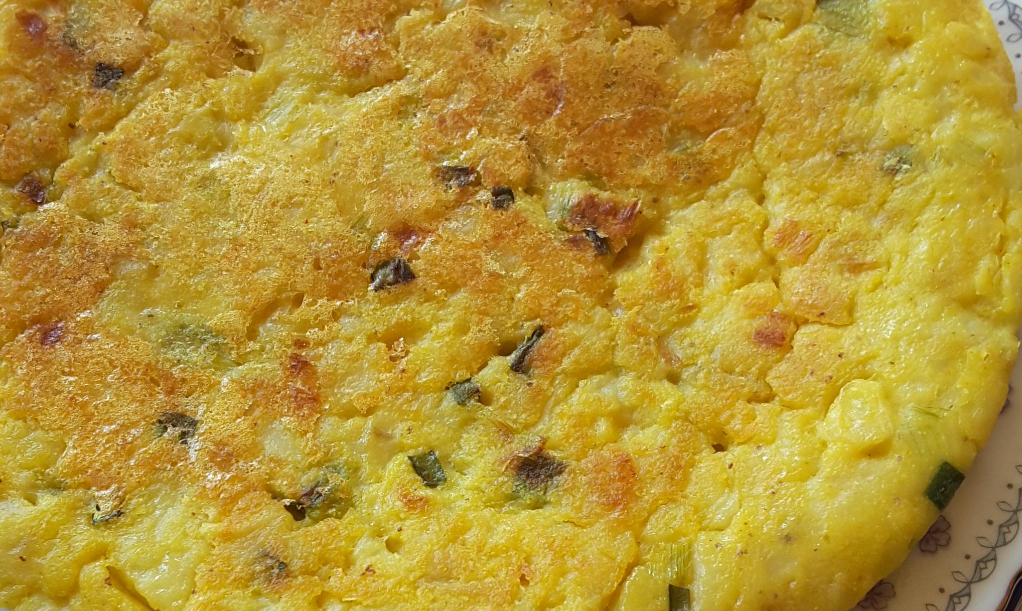 Receta tortilla de patatas vegana