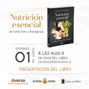 Presentación libro vegano de Nutrición Esencial
