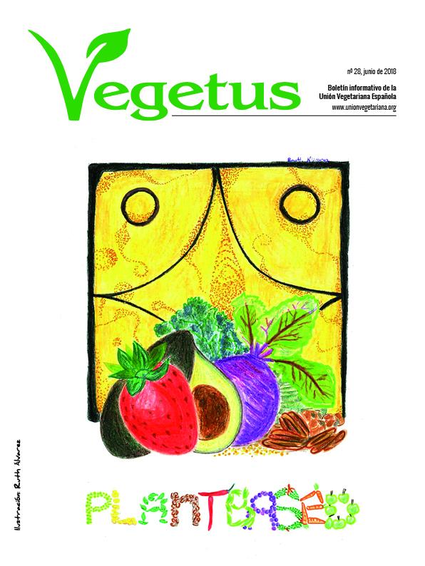 Revista con información vegetariana